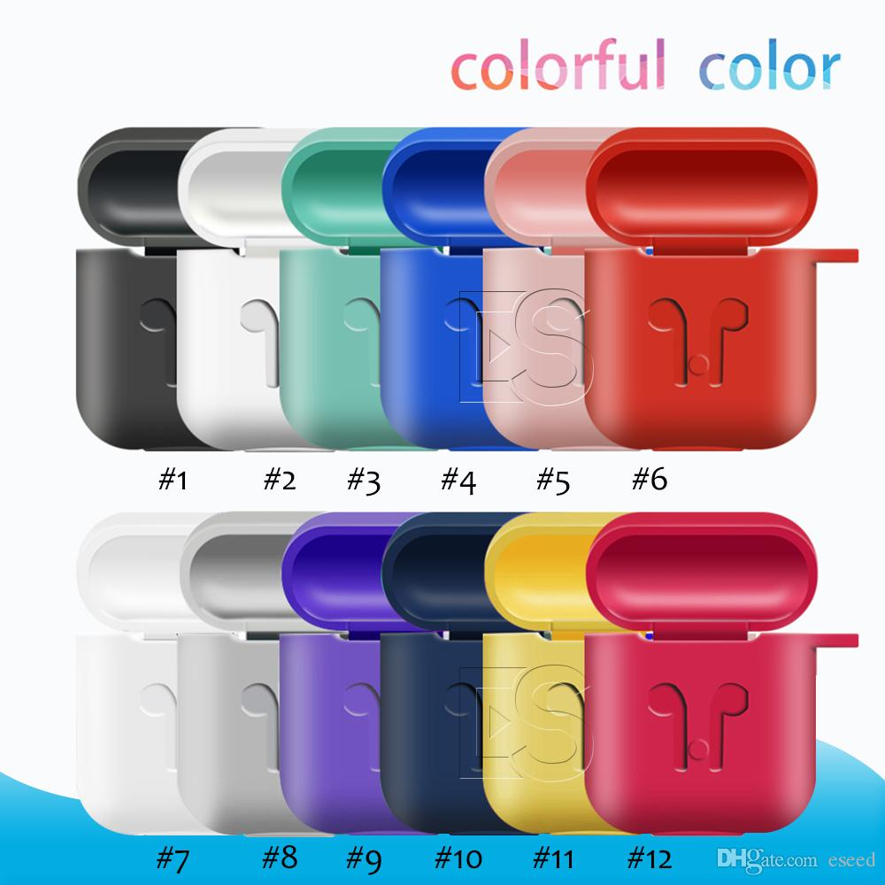 finest selection a813a a9def 4 in 1 Colorful AirPods Case Protective Silicone Cover Skin Compatible with  apple airpods Charging Case air pods Cases with Opp package