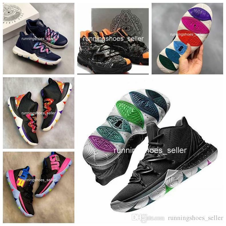 f3e13dc3edf 2019 New Kyrie 5 Black Magic Travis Taco BennettMens Zapatos De Baloncesto  Irving 5s 3M Athletic Sport Chaussures Zapatillas Zapatillas De Deporte  Tamaño 40 ...