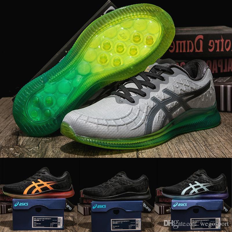 b0501eeb8e266 Acheter 2019 Asics Gel Quantum Infinity Chaussures De Course Hommes Femmes  Blanc Vert Top Qualité Chaussures De Sport Designer Baskets Taille 40 45 De  ...