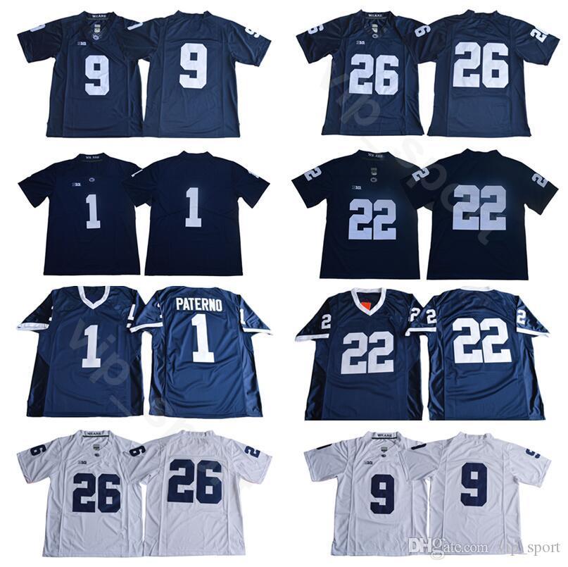 ef8236ce451 2019 Men Penn State Nittany Lions College 22 Akeel Lynch Jersey 9 Trace  McSorley 1 Joe Paterno 26 Saquon Barkley PSU Football Jerseys University  From ...