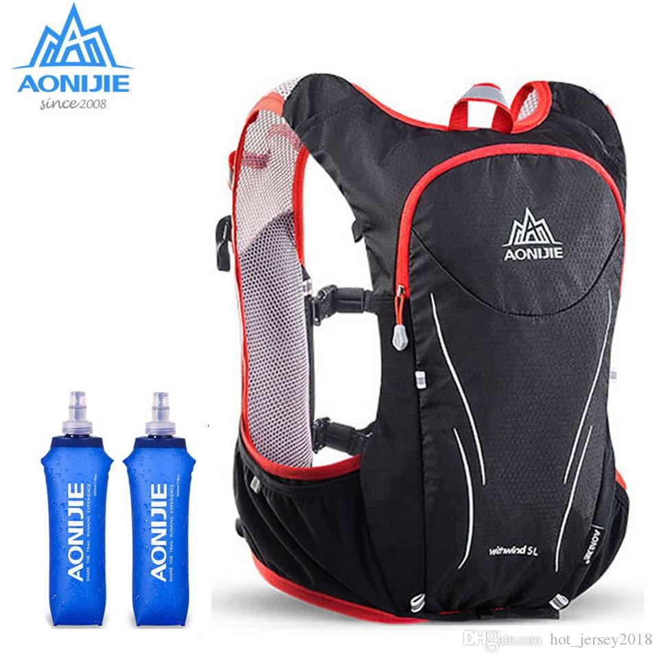 4c9b51b52488 AONIJIE 5L Outdoor Backpack Marathon Vest Pockets Bag for Running Rucksack  Cycling Safety Gear With 1.5L Hydration Bladder #234876