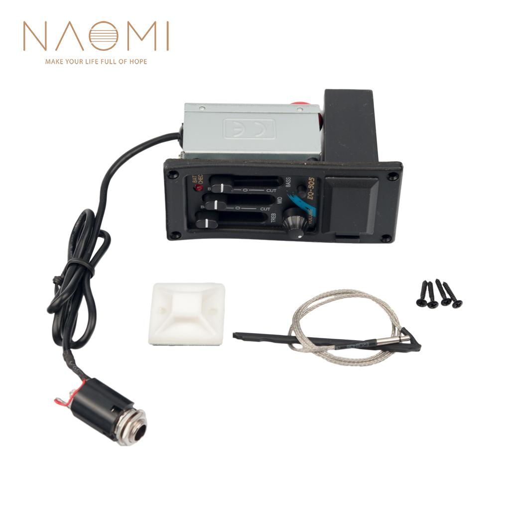 NAOMI Guitar Pickup EQ Guitar Preamp Equalizer Piezo For Acoustic Guitar  EQ-505