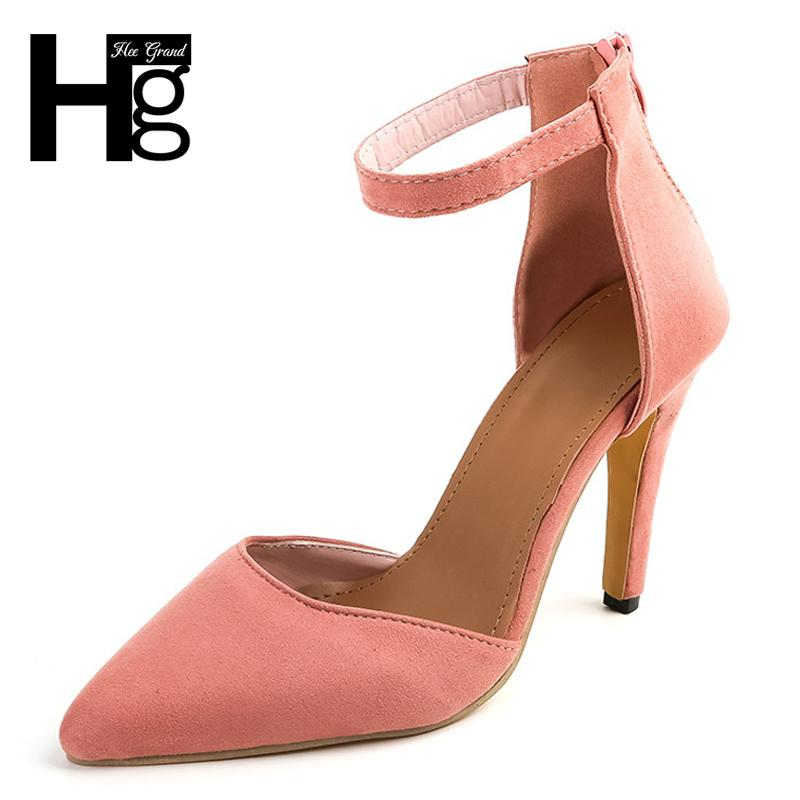 a99d0abbf331 Shoes Hee Grand Sexy Women S Pumps High Heels Faux Suede High Platform Thin Heel  Shallow Buckle Strap Party Wedding Woman Wxg548 Comfort Shoes Mens Boat ...