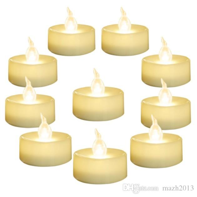 quality design 46d36 8cb12 SXI 24 Pack Warm White Battery LED Tea Lights,Flameless Flickering Tealight  Candle,Dia 1.4