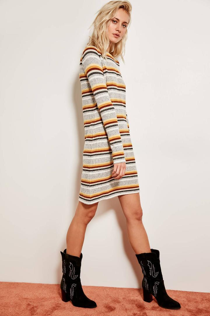 530d63ca88990 Trendyol Gray Striped Knit Dress TCLAW19ZH0070 Black Summer Dresses Evening  Wear Dresses From Camelane, $27.57| DHgate.Com