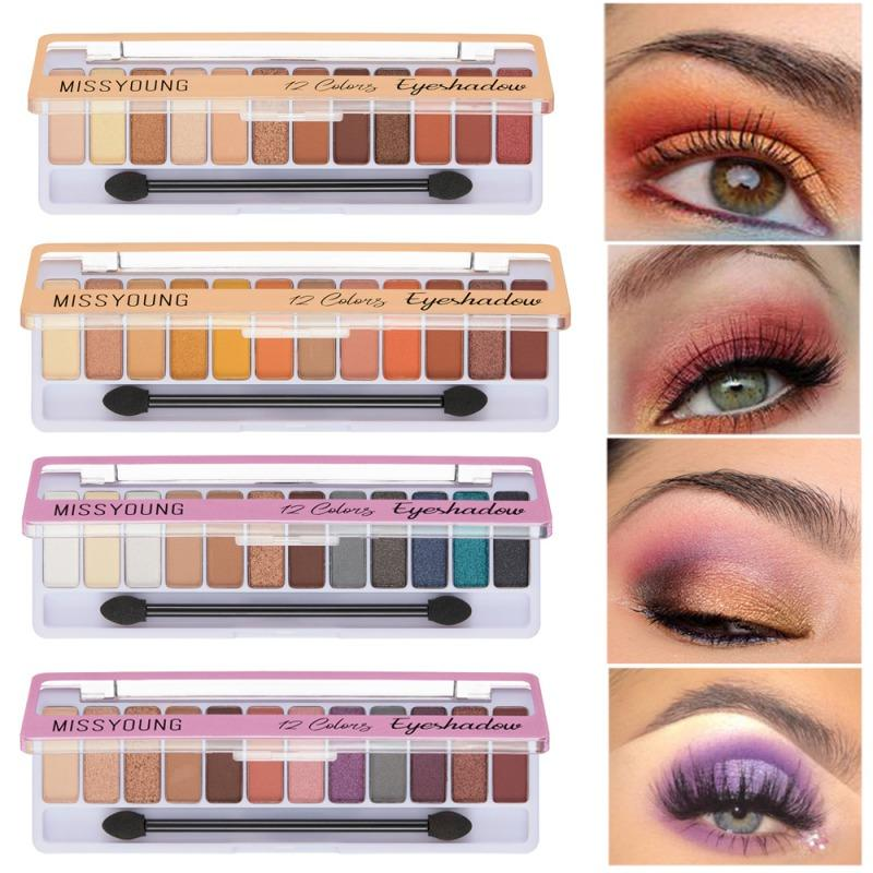 1pcs 12 Color/Set Long Lasting Waterproof Eye Shadow Eye Makeup Palette Comestic Profesional Matte Eyeshadow Pallete NEW