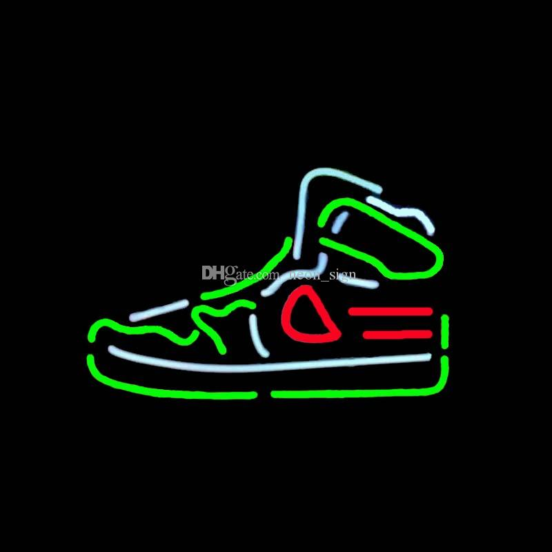 b040c0b155 2019 Sport Shoe Neon Sign Handmade Custom Real Glass Tube GYM Shoes Store  Shop Company Advertisement Display Decoration Neon Signs 17X14 From  Neon sign