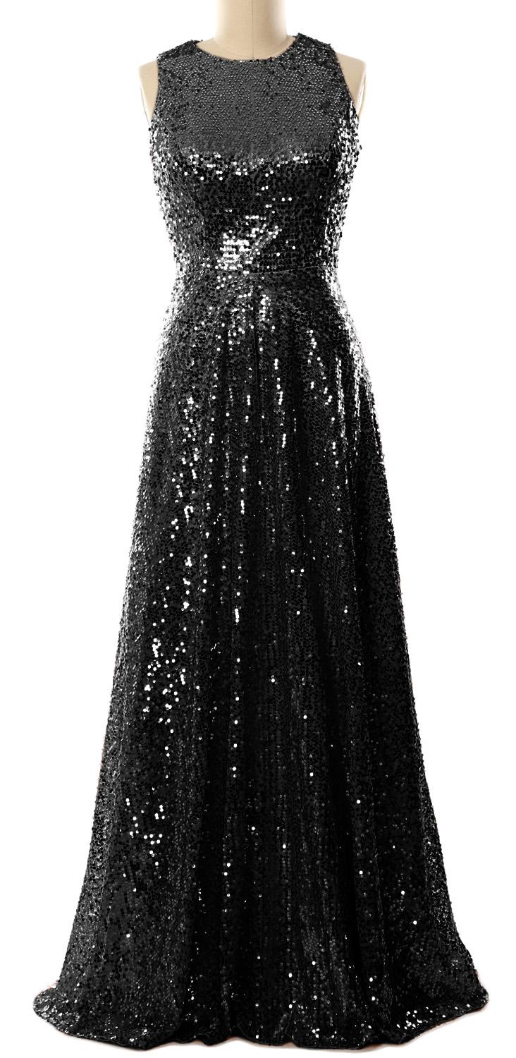 Evening Gown The Women Party Formal Maxi Floor Sleeveless Long Of Sequin Mother Bride Bridesmaid O Macloth Neck Lenght Dress 6gvbYf7y