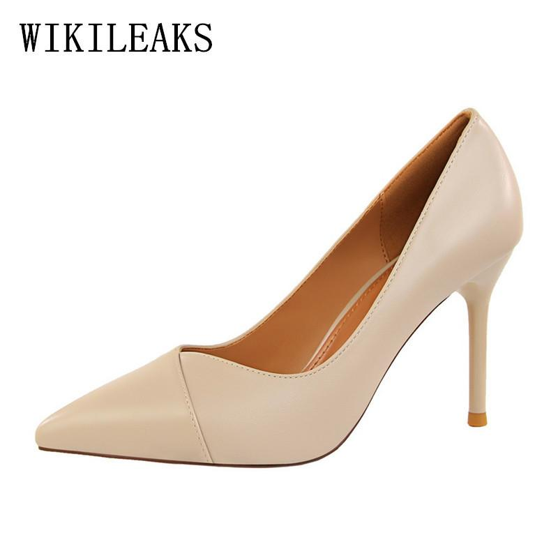 ddec860b5f2 Dress High Quality Leather Extreme High Heels Wedding Shoes Woman Pointed  Toe Ol Pumps Women Shoes High Heel Designer Bigtree Shoes Wedge Shoes  Casual Shoes ...