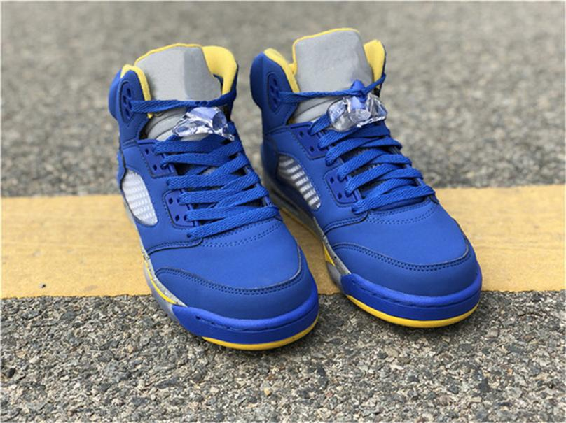 770e01dbe80e1f 2019 Best Authentic 2018 5 JSP Laney Man Woman Basketball Shoes For Men  Blue Suede 3M Reflective CD2720 700 Sneakers Size 7 13 From Polishe
