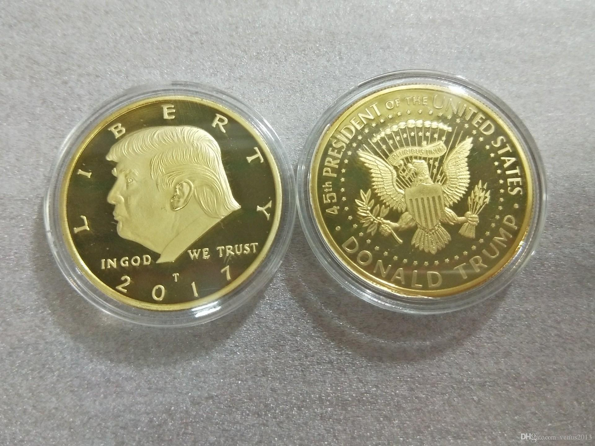 2019 Gold Silver Metal Craft Coin Badge American 45th President Donald  Trump Sculpture Non-currency Commemorative Coin EAGLE Collection Coin