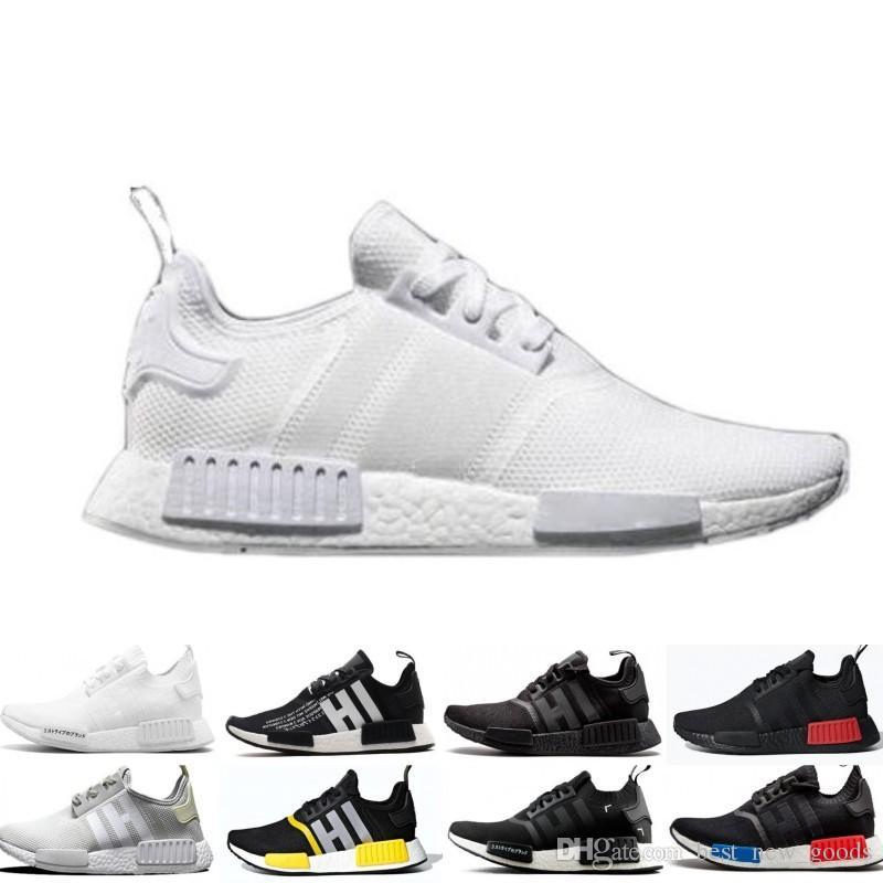 e6e5996051098 2019 Wholesale NMD R1 Running Shoes OG Japan Triple Black White ...