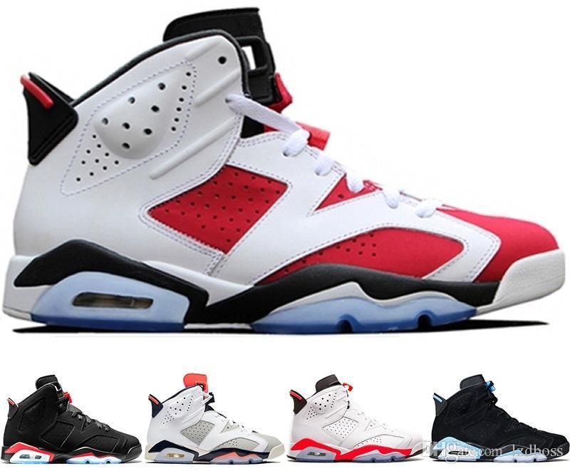 573638cd361 2019 2019 HOT Bred Men 6 6s Basketball Shoes Tinker UNC Black Cat White  Infrared Red Carmine Toro Mens Designer Trainer Sport Sneaker Lzdboss From  Lzdboss