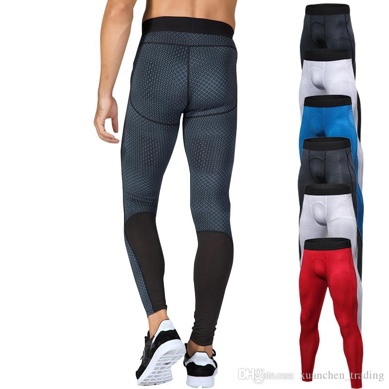 e9f939ac1f 2019 Men Fitness Tight Sport Pants Compression Bodybuilding Male Running  Jogging Basketball Leggings Quick Dry Gym Training Pants From  Xuanchen_trading, ...