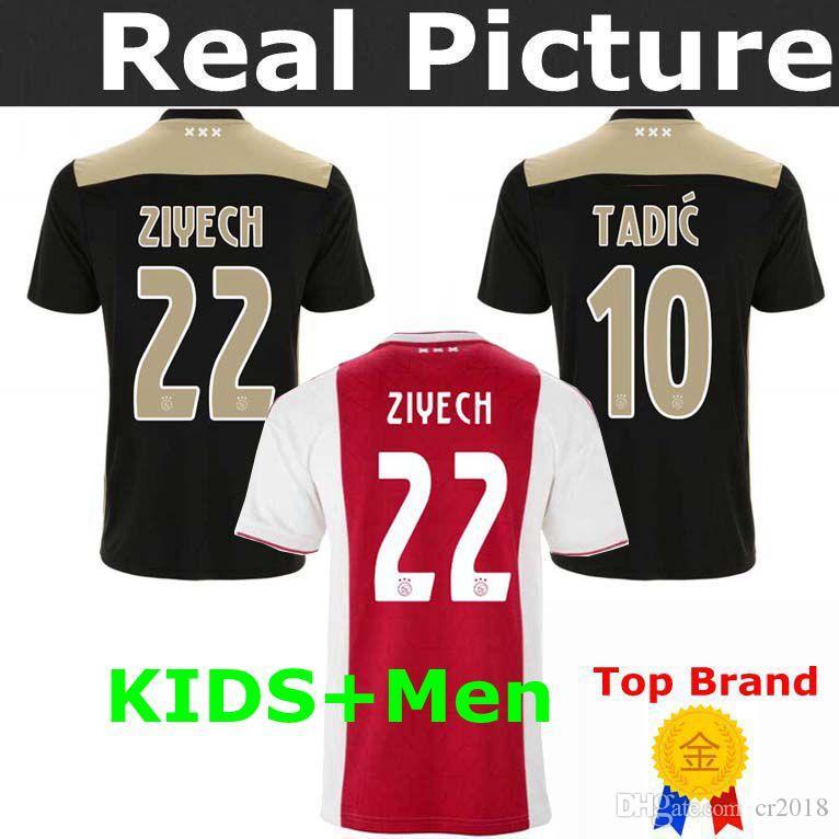 d7dc037bd50 2019 2018 Ajax Home Away Black Soccer Jerseys 18 19 Soccer Shirt 2019  10  TADIC SCHONE 20  NERRS 7   22 ZIYEC Football Uniform Ajax Men KIDS From  Cr2018