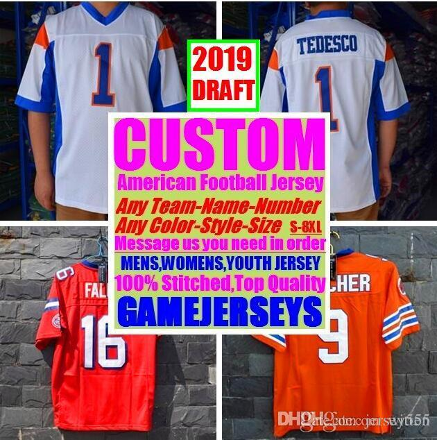 All Stitched Custom american football jerseys Arizona Atlanta college authentic cheap baseball basketball mens womens youth USA 4xl brown