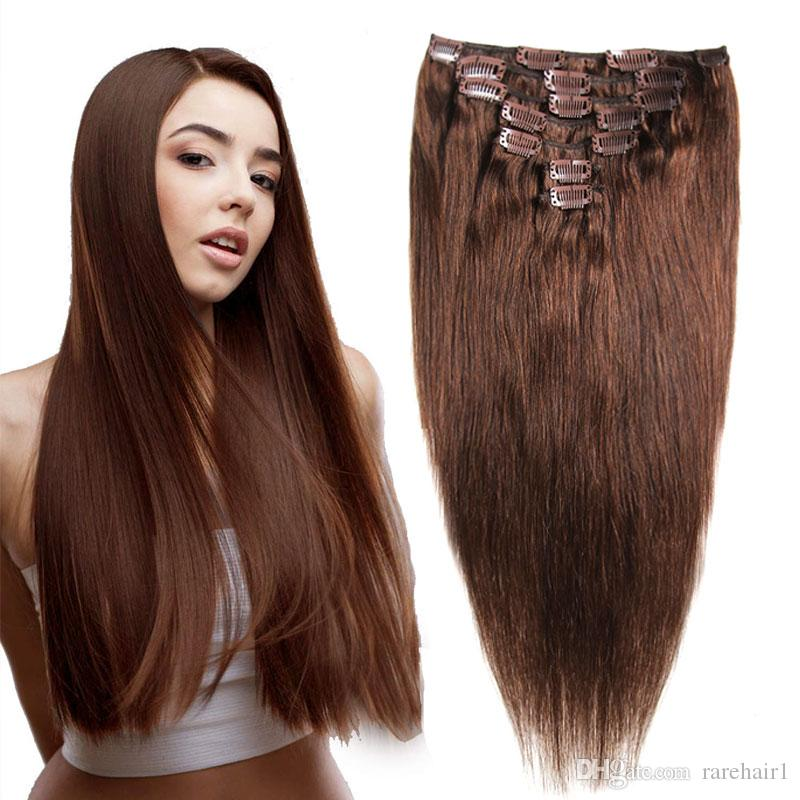 Clip In Human Hair Extensions Machine Made Remy Hair 7pcs/set Natural Clip Ins 70g Brazilian Human Hair Extensions