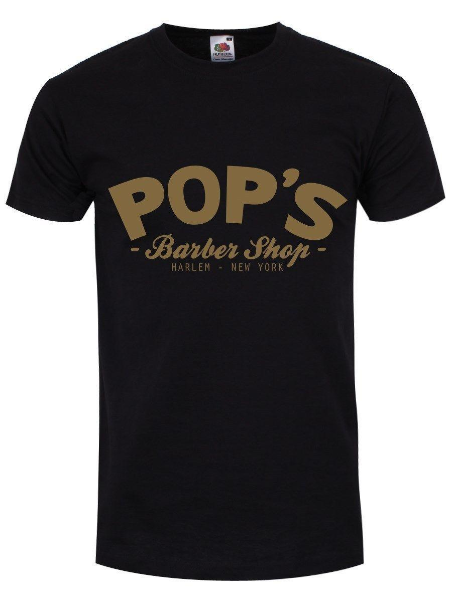 Pop's Barber Shop Black Men's T-shirt