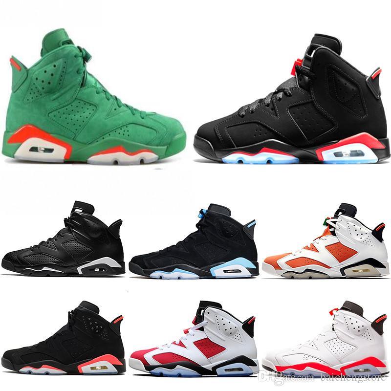 5abf10a38a0883 6 Carmine Basketball Shoes Classic 6s UNC Black Blue White Infrared Low  Chrome Women Men Sport Blue Red Oreo Alternate Oreo Black Cat 41 47 Shoes  Brands ...