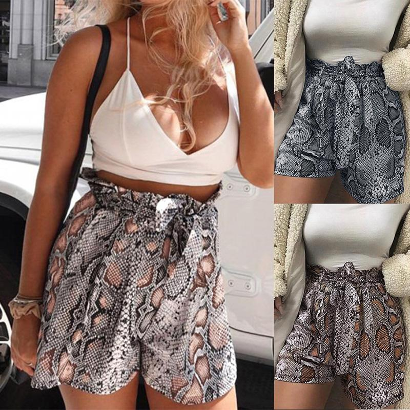 018f44b197 2019 High Waist Shorts Women Plus Size Black Loose Casual 2019 New Fashion  Summer Snake Print Short Mujer Wide Leg Hot Panties S~XL From Piaose, ...