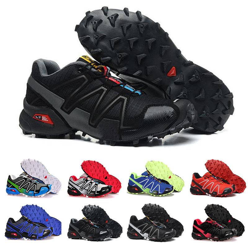 67161c0898698 2019 Top Quality Speedcross 3 Mens Running Shoes Trainers Classic Speed  Cross 3 Designer Sports Jogging Walking Hiking Sneakers Men Shoes 40 46  From ...