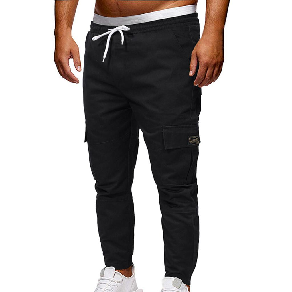 2019 Casual Male Sport Jogging Tactical Pant Jeans Sweatpants Drawstring Cargo  Pants Men Trousers Pantalones Hombre 20 Cargo Pants Cheap Cargo Pants 2019  ... 8121f9855ece