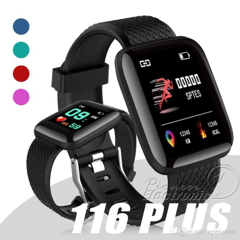 20bd279e0cb Compre 116 Plus Smart Watch Pulseiras De Fitness Rastreador Monitor De  Freqüência Cardíaca Passo Contador Monitor De Banda Pulseira Pk 115 Plus M3  Para ...