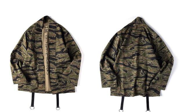 80d26b5a4c0 Japanese Camo Kimono Jackets Japan Style Mens Hip Hop Camouflage Casual Open  Stitch Coats Fashion Streetwear Jacket Faux Fur Denim Jacket Jacket S From  ...
