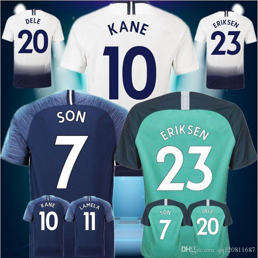 20a1b980d88 2019 Top Thailand Quality KANE Soccer Jersey 2018 2019 LAMELA ERIKSEN DELE  SON Jersey 18 19 Football Kit Shirt Men And KIDS KIT SET From Qq120811687,  ...