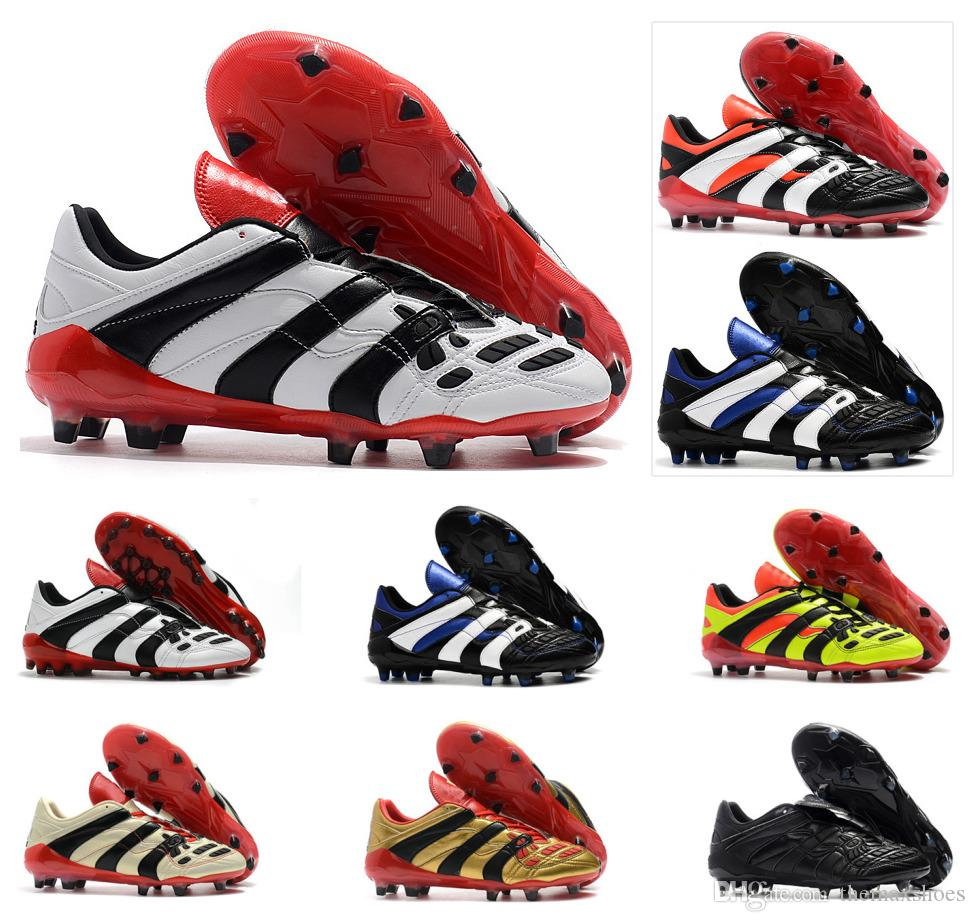 89d98cb5944 2019 Hot Predator Accelerator Electricity FG DB David Beckham Becomes 1998  98 Men Soccer Shoes Cleats Football Boots Size 39 45 From Themaxshoes