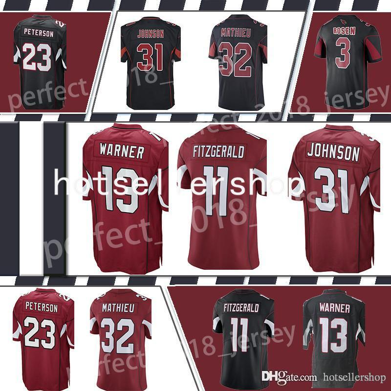 515ecfe61 2019 Rosen Fitzgerald Arizona Cardinal Football Jerseys 11 Larry 3 Josh 31  David Johnson 13 Kurt Warner 32 Tyrann Mathieu Jerseys Stitched Top Sa From  ...