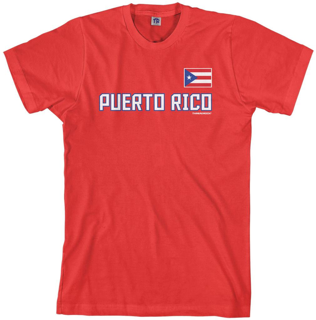 4b712d1daa5 Details Zu Threadrock Men S Puerto Rico National Team T Shirt Flag Pride  Funny Unisex Casual Gift Design And Order T Shirts Gag T Shirts From  Justtheshirt