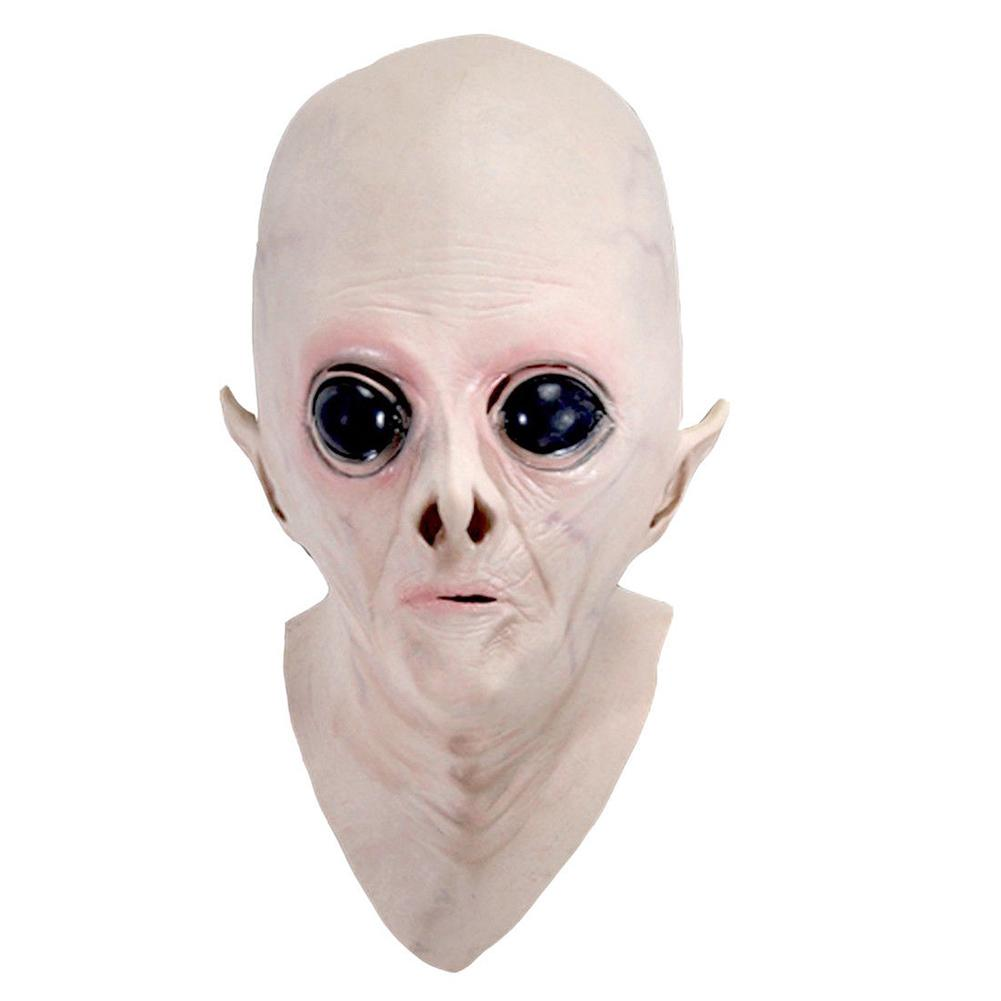Newly Halloween Creepy Vinyl UFO Alien Head Mask Cosplay Party Supplies XSD88