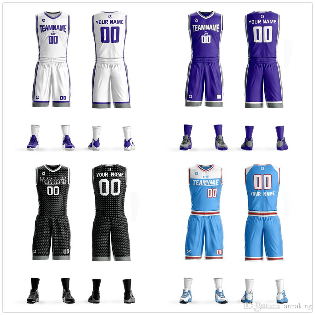 f9a81da3552 2019 Fully Custom Mens Youth Kids Your Team Name Number Basketball Uniform  Jersey Personalized Jersey Basketball Jersey Sets From Annaking
