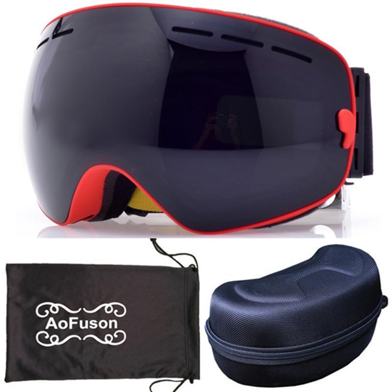 9fc86301dcd Ski Goggles Brand Professional Snowoabrd Double Lens Anti-fog Big ...
