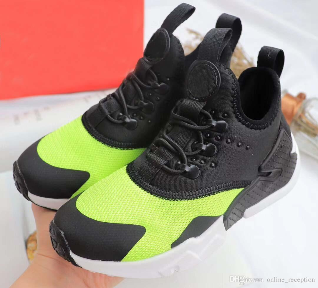 7c1b27cf5a6 2018 Black Red Air Huaraches Kids Running Shoes For Boys Girls White Blue Sneakers  Huarache Children s Trainers Sport Shoes Size 11C-3Y 6 6s Kids Shoes ...