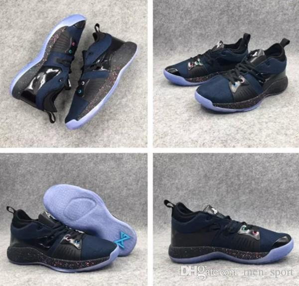 3007cdf0a11e AAA+ Quality Paul George 2 II PG2 PlayStation Men S Basketball Shoes For  Dark Blue Black PG 2s Sports Athletics Sneakers Size 40 46 Sneakers For  Women Shoes ...