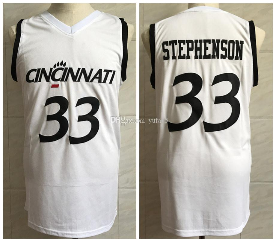 sports shoes 1479b 89385 #33 Lance Stephenson Cincinnati Bear Cats College Retro Classic Basketball  Jersey Mens Stitched Custom Number and name Jerseys