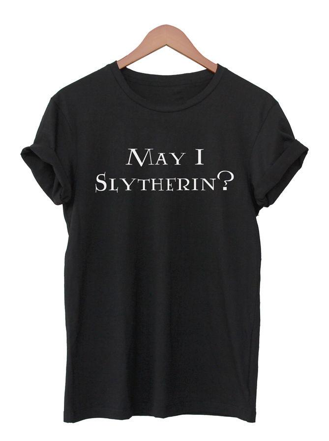 44eedf86c May I Slytherin T Shirt Harry Potter Shirt Unisex Funny Quote Tee Hogwarts  Top Funny Unisex Casual T Shirts With Prints Humorous Shirts From  Rocktothetop, ...
