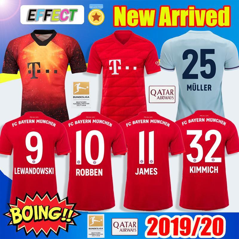 finest selection 48ab8 4b785 New 2019 Bayern Munich JAMES RODRIGUEZ Soccer Jerseys 2020 LEWANDOWSKI  MULLER KIMMICH EA SPORTS Jersey 18 19 20 VIDAL HUMMELS Football shirt