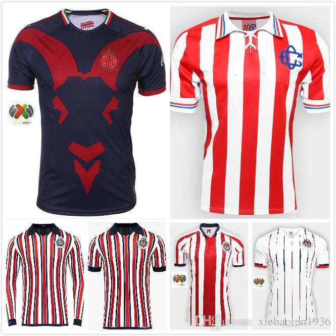 more photos 9fbfc f335d 1 Liga Mx 2018 2019 Chivas Soccer Jersey Home Away Third Football Shirt  Guadalajara Uniforms More 10pcs Free DHL Shipping