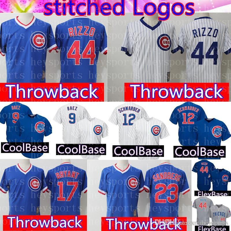 8aef142b Retro Mesh Chicago Cubs Jersey Mens 17 Kris Bryant 44 Anthony Rizzo ...