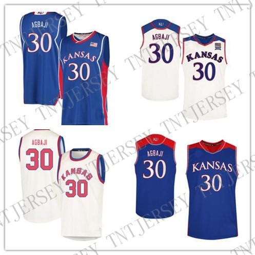huge selection of 7f4d6 1bb41 CUSTOM Ochai Agbaji Kansas Jayhawks Jersey no.30 College Basketball Jerseys  Stitched Mens Women Youth Custom Any Name Number XS-6XL