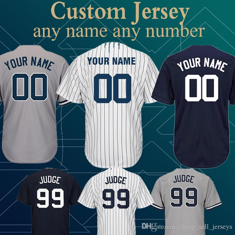 pretty nice eed87 a47aa Customized Yankees Jersey 99 Aaron Judge 23 Don Mattingly 3 Babe Ruth 7  Mickey Mantle 42 Mariano Rivera 51 Bernie Williams