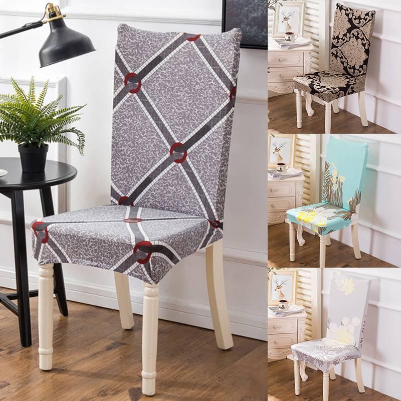 Baskı Streç Sandalye Kapak Büyük Elastik Koltuk Sandalye Boyama