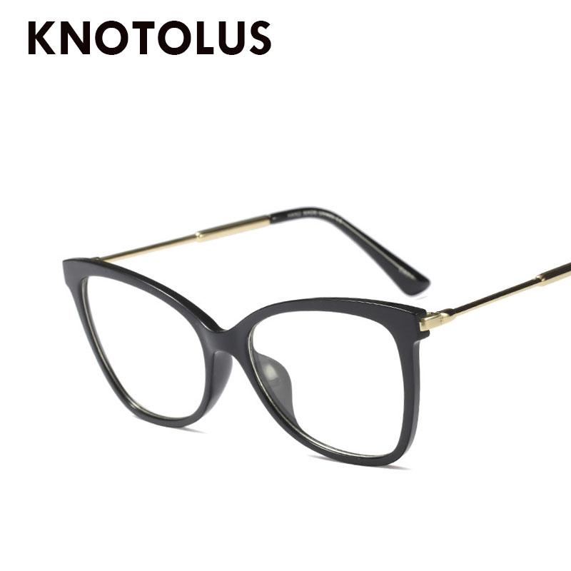 847b0d67c6ad 2019 Knotolus Fashion Plastic Frame Eyewear Woman Red Frame Eyeglasses  Optical Myopia Frames Vintage Clear Square Glasses From Taihangshan