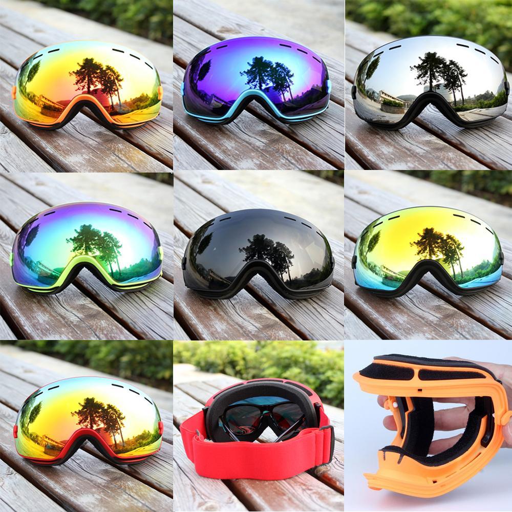 Compre Inverno Anti Fog TUP Óculos De Esqui UV400 Esporte Snowmobile Óculos  De Lente Dupla Snowboard Máscara De Neve Óculos De Sol Para Menwomen Esqui  De ... e4c9145a99