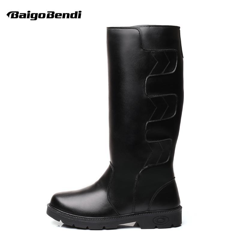 6 11 Botas De Nieve Impermeables Hasta La Rodilla Para Hombre Hombres Súper  Cálido Botas De Invierno Hombre Piel De Imitación Al Aire Libre Zapatos De  ... 40252c19e1353