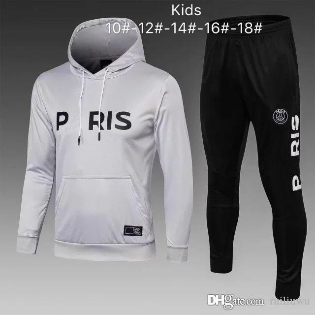 98d89bb71 AAA+2019 Kids MBAPPE Hoodie PSG Soccer Training Suits Survetement ...