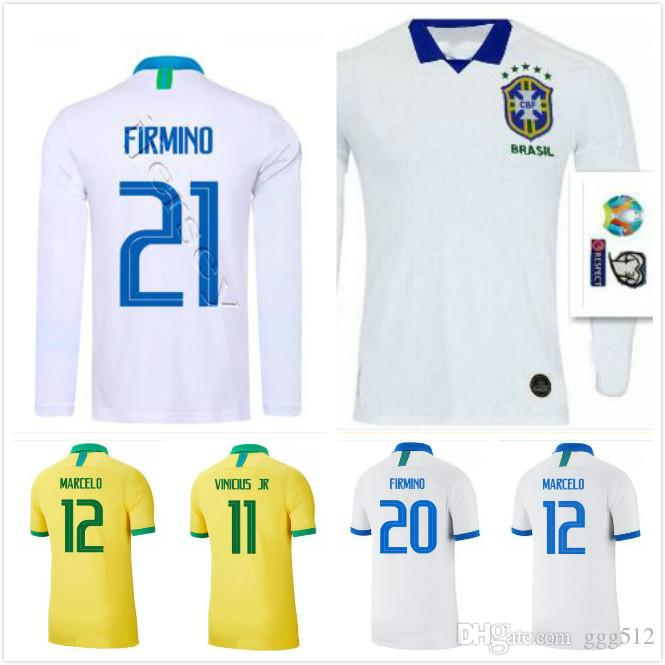 Copa amérique 2019 Brésil Équipe nationale COUTINHO maillot de football 2019 2020 Brésil MARCELO WILLIAN maillot de football PAULINHO G.JESUS ​​Maillot de football